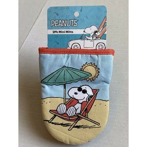 Peanuts SNOOPY 2 Pack Mini Oven Mitts Pot Holder